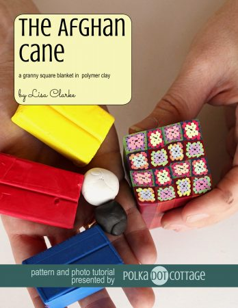 The Afghan Cane polymer clay tutorial at Polka Dot Cottage