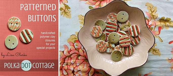Patterned Buttons at Polka Dot Cottage