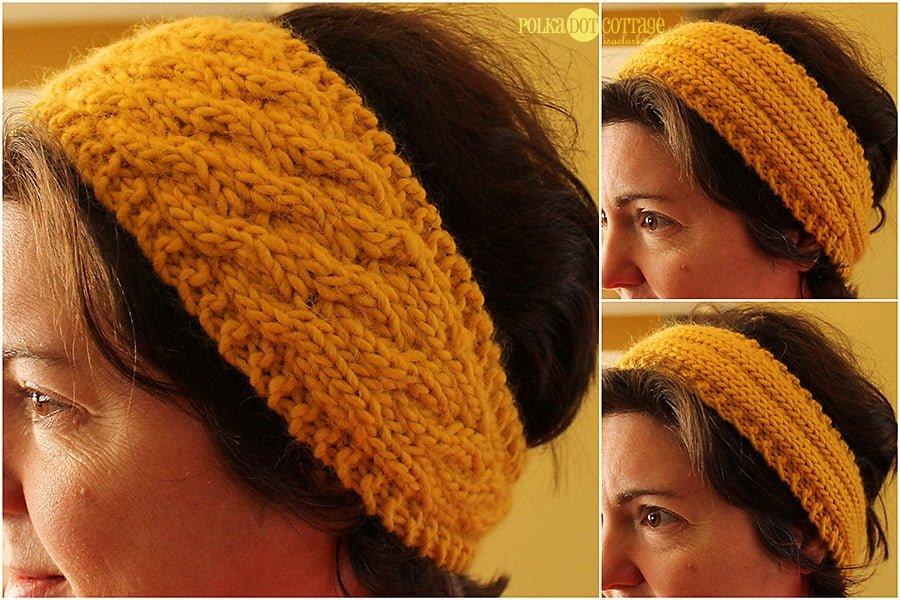 Loom Knitting Pattern Headband : The headband pattern is here!   Polka Dot Cottage