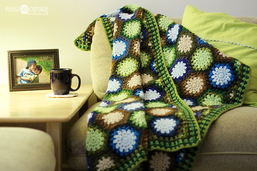Lakeside Forest Blanket Polka Dot Cottage
