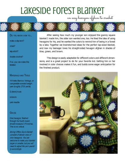 Lakeside Forest Blanket crochet pattern at Polka Dot Cottage