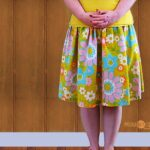 I Like My Skirts Fast and Cheap, a vintage sheet upcycling project @lclarke522