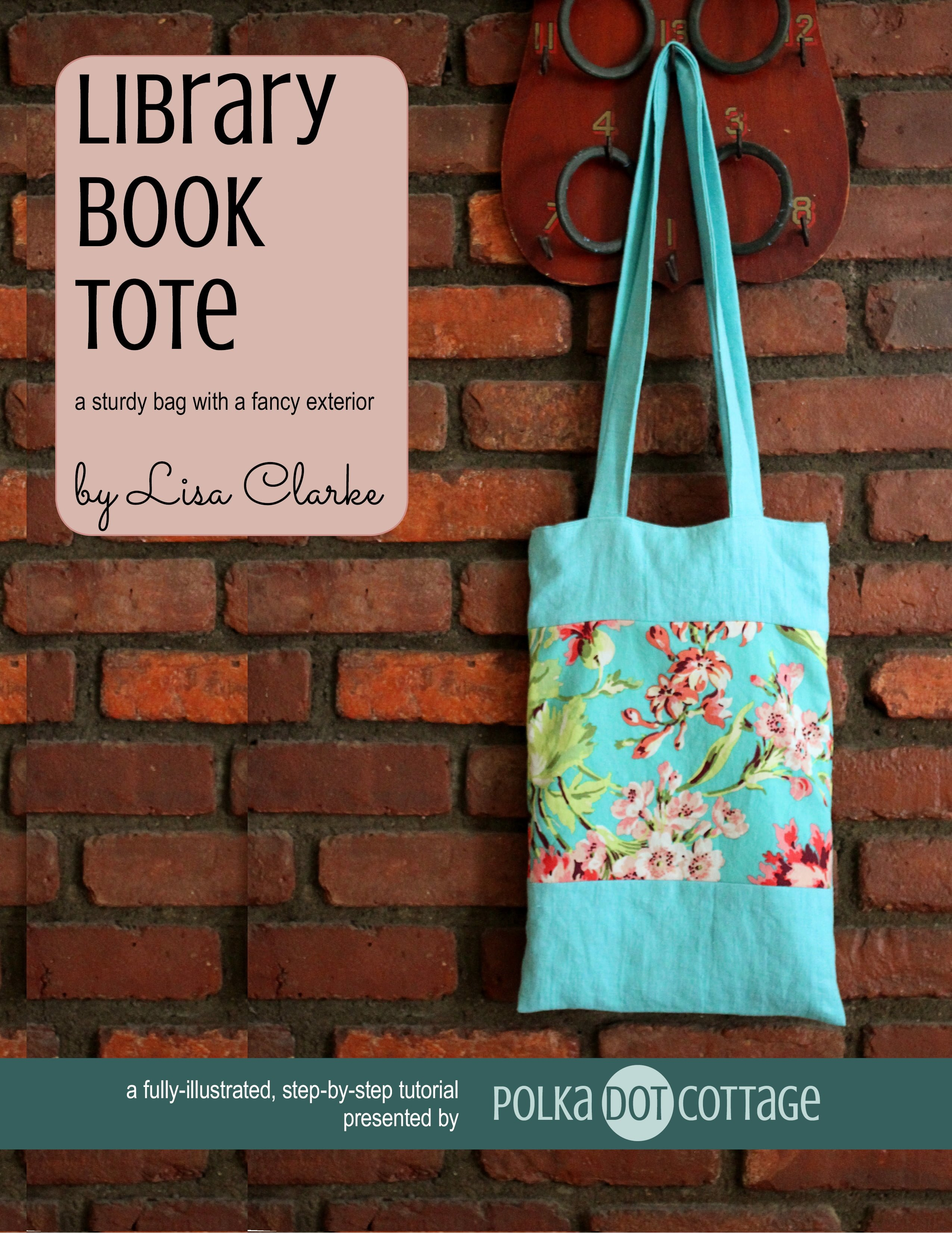 Library Book Tote, an eBook tutorial from Polka Dot Cottage