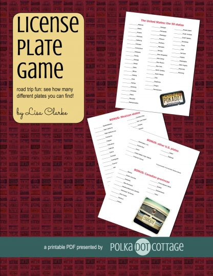 The License Plate Game Road Trip Printable