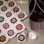 Floral blanket in progress, at Polka Dot Cottage
