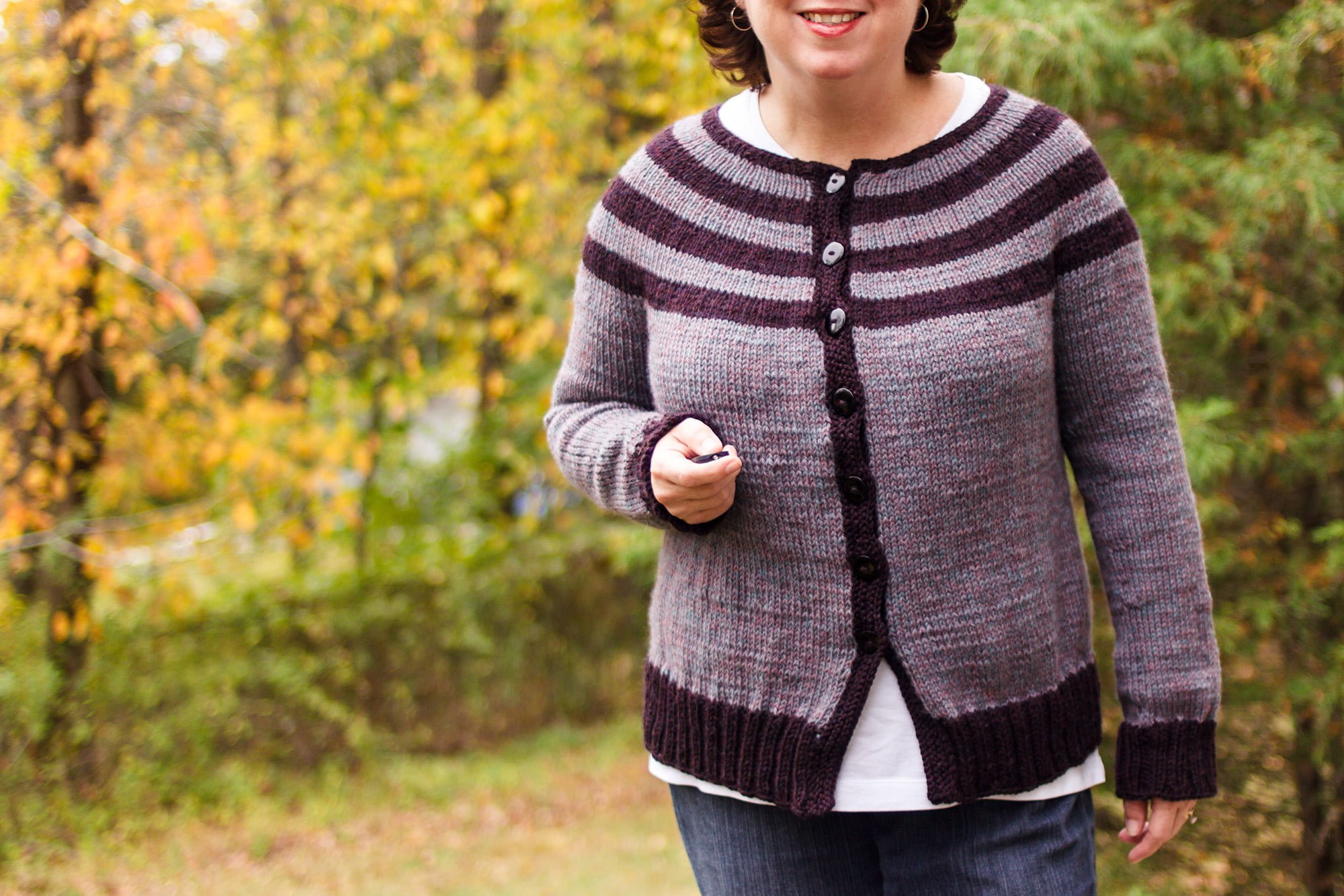 Striped Yoke Cardigan ⋆ Polka Dot Cottage