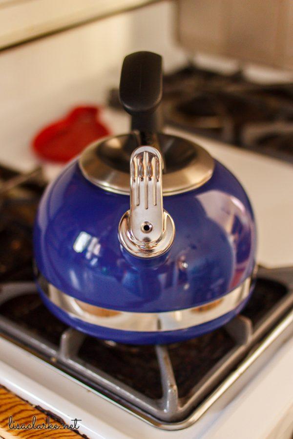 New blue kettle