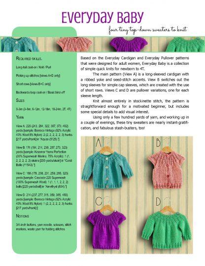 Everyday Baby knitting pattern from Polka Dot Cottage