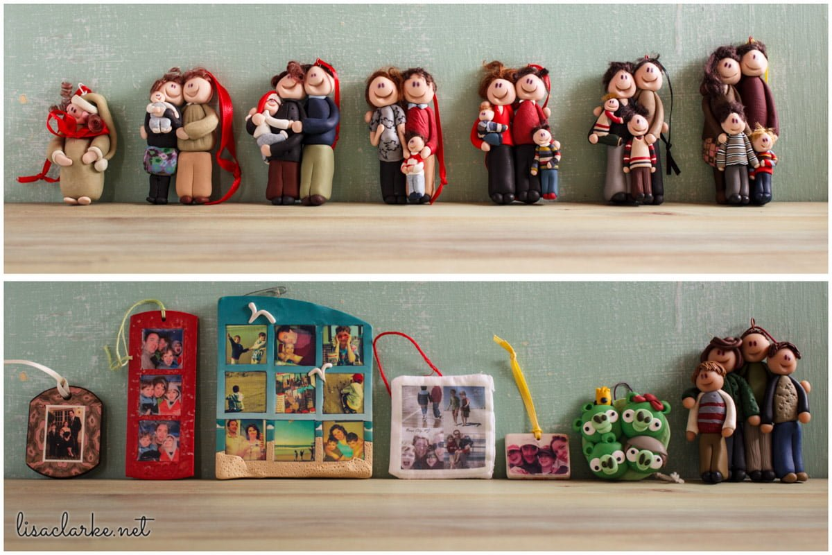 Our family ornaments through the years