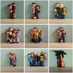 Family Portrait Ornaments from Polka Dot Cottage