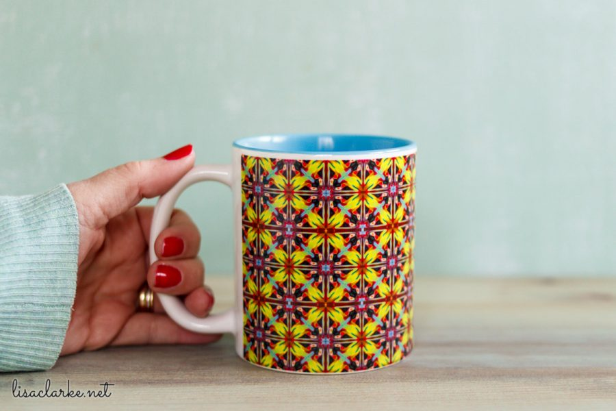 Using Polymer Clay Canes to Make Repeating Patterns in Photoshop: Using the Pattern on a Mug