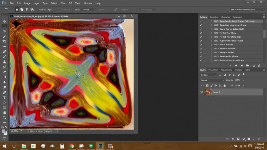 Using Polymer Clay Canes to Make Repeating Patterns in Photoshop: Cropping the Image