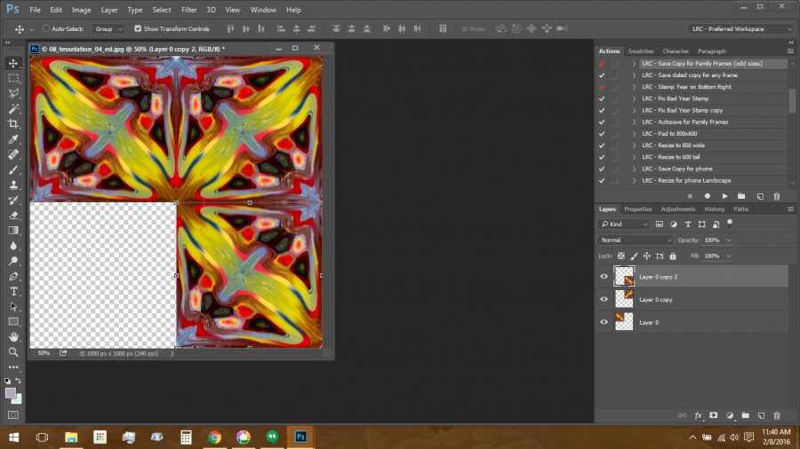Using Polymer Clay Canes to Make Repeating Patterns in Photoshop: Tesselation Step 3