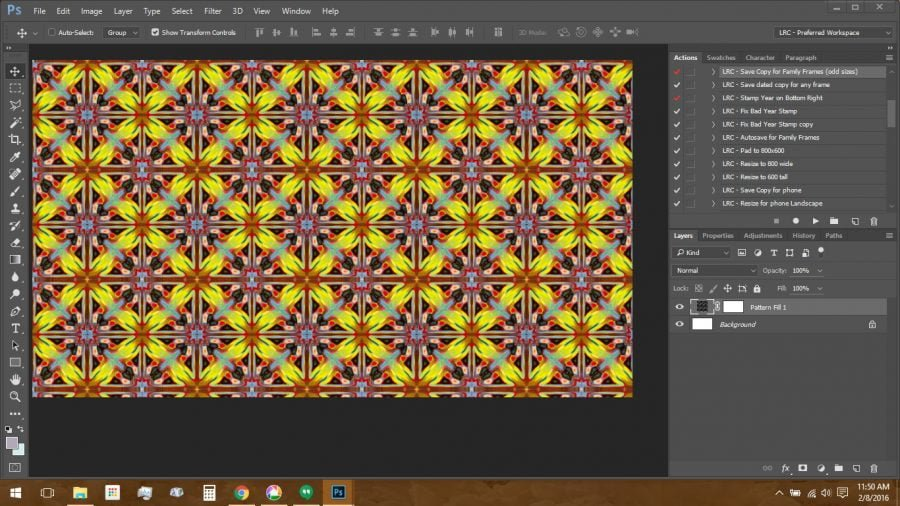Using Polymer Clay Canes to Make Repeating Patterns in Photoshop: using the Pattern