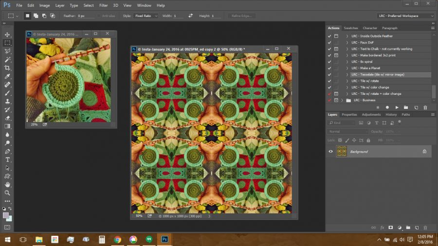 Using Polymer Clay Canes to Make Repeating Patterns in Photoshop: Crochet Photo