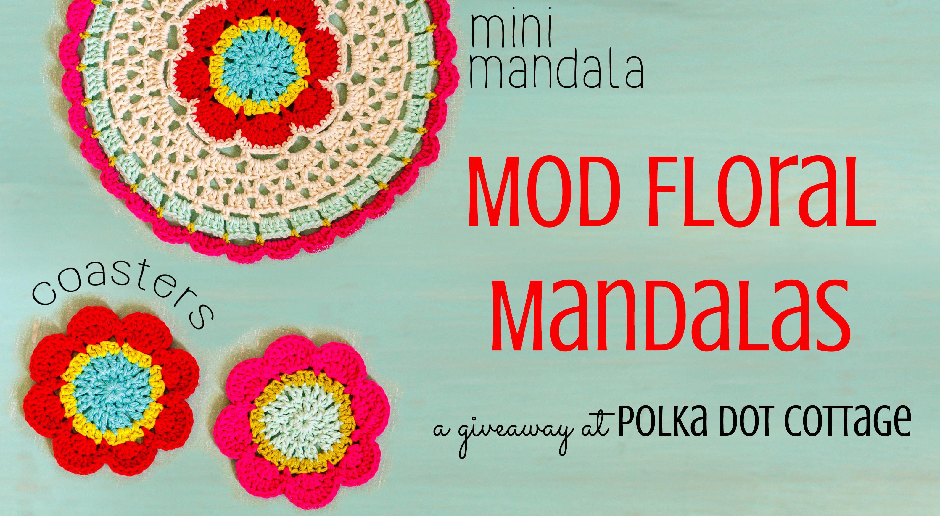 Mod Floral Mandalas at Polka Dot Cottage