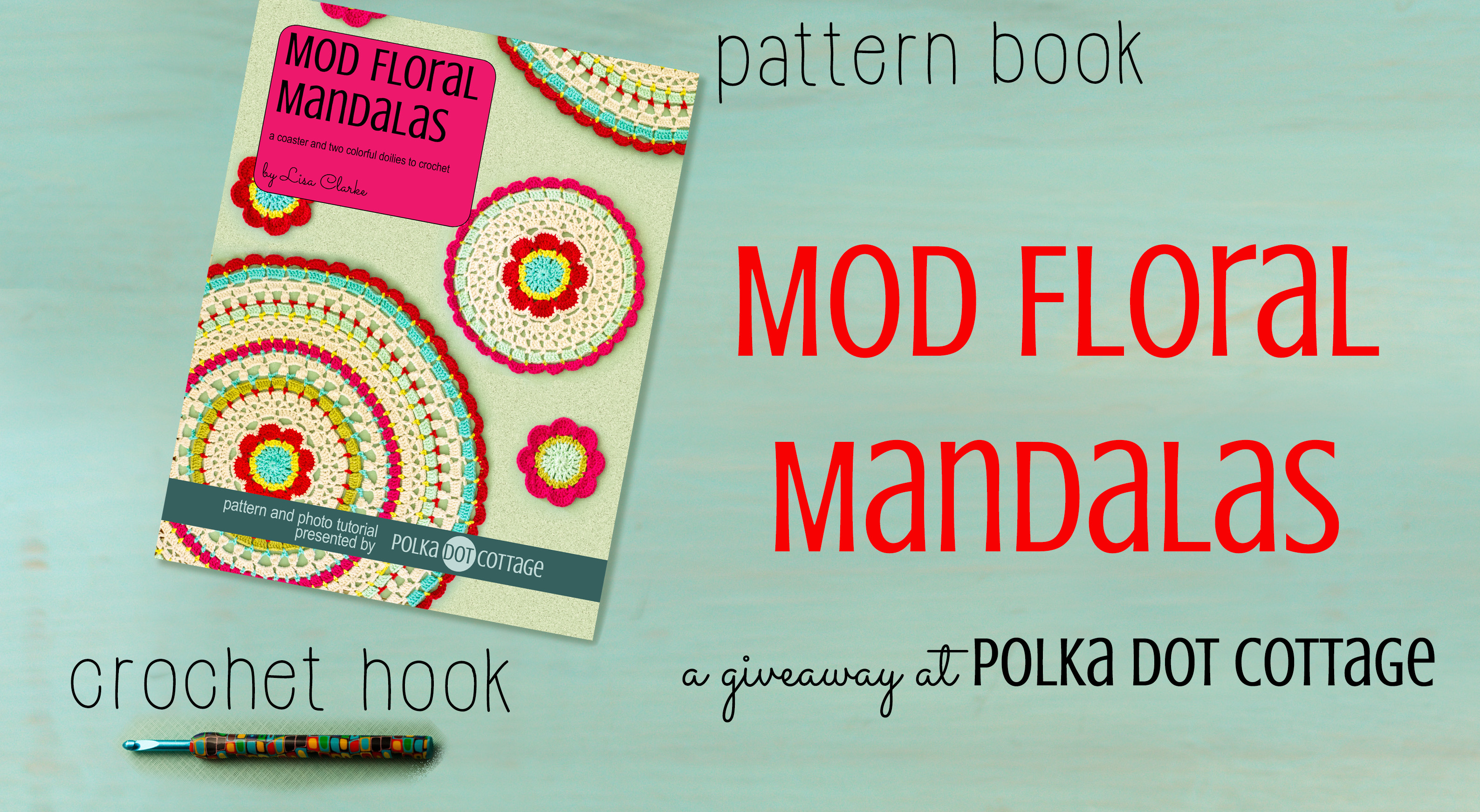 Mod Floral Mandalas giveaway at Polka Dot Cottage