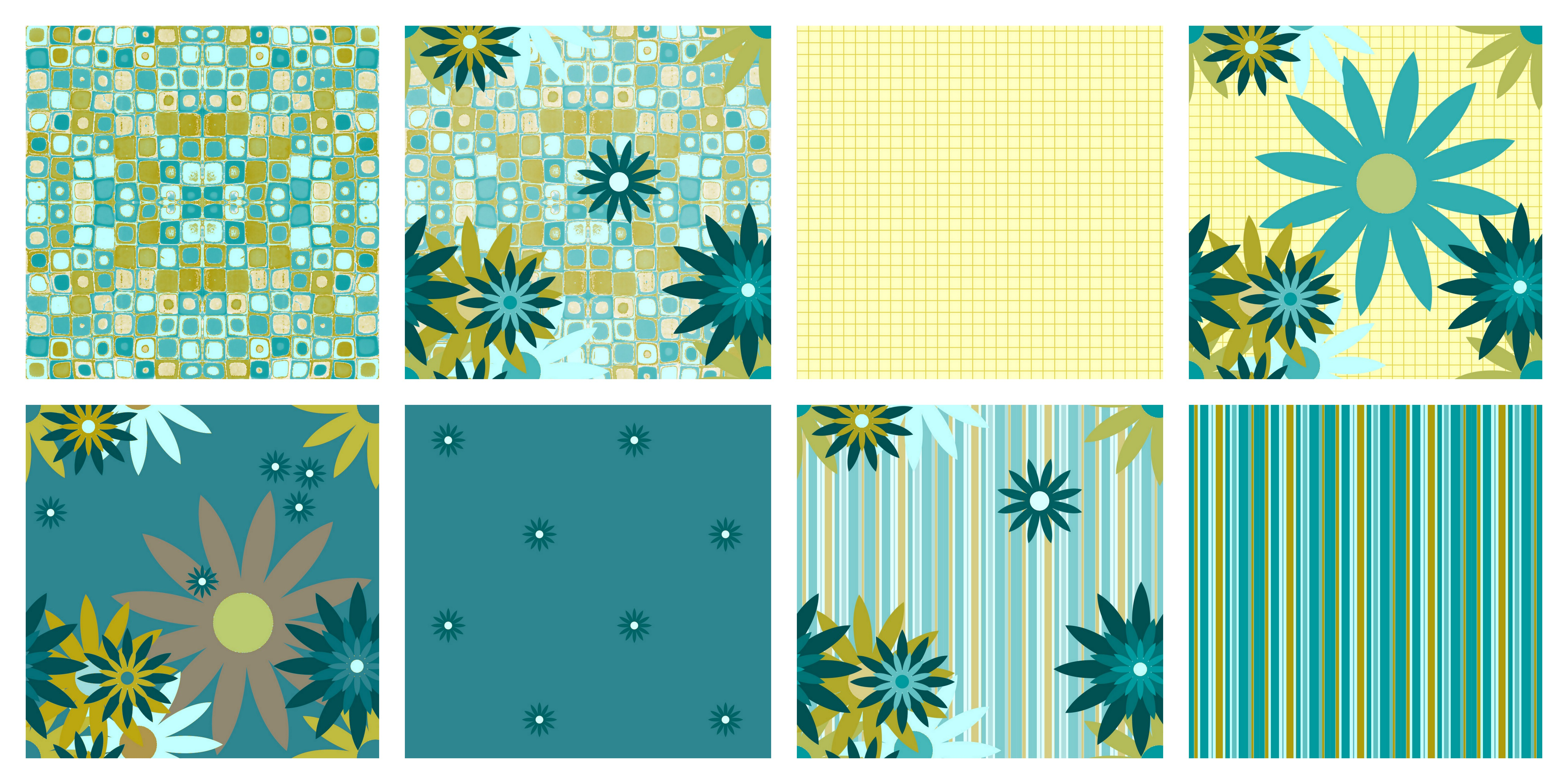 Summer Flowers fabric collection from Polka Dot Cottage