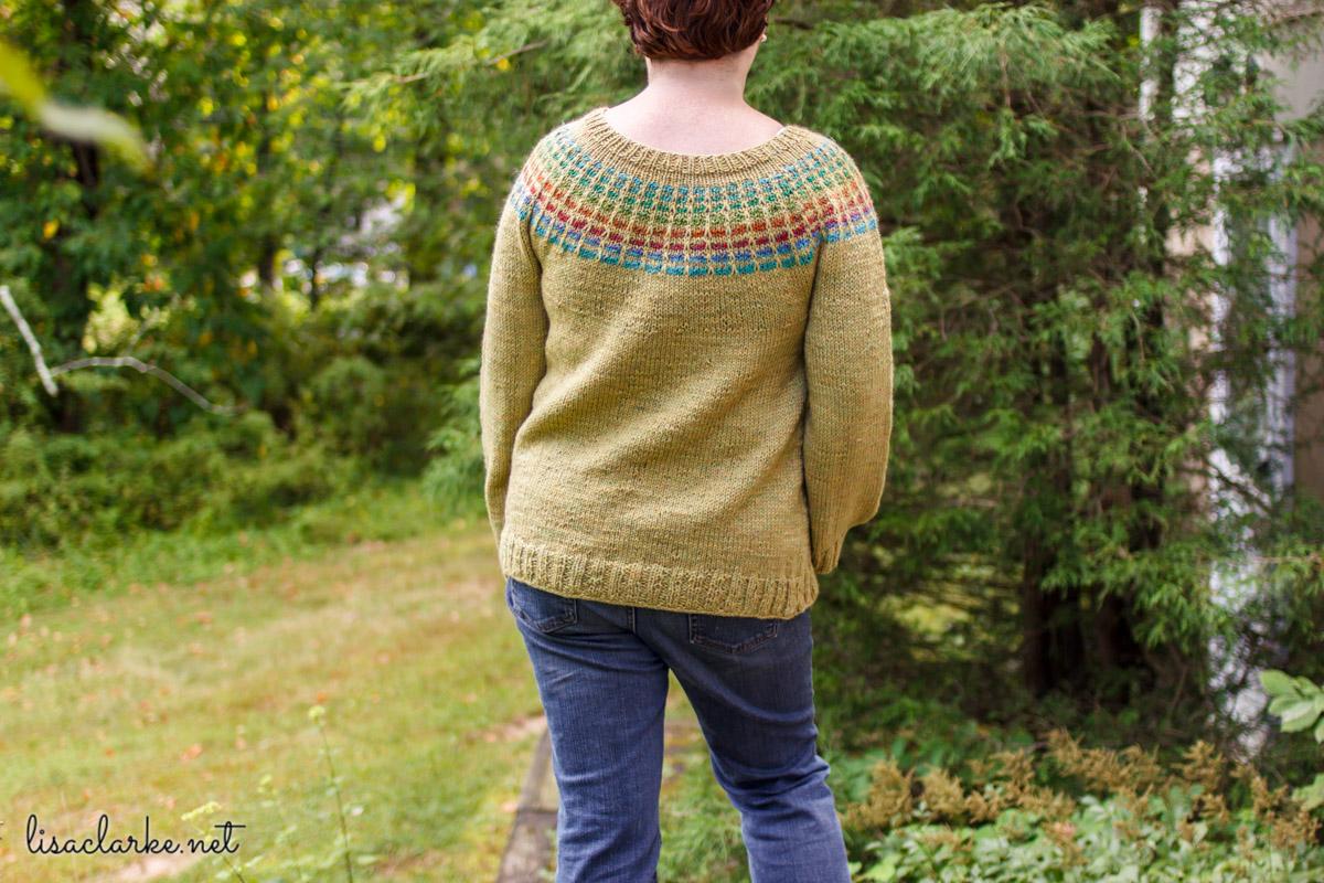 Porthole Pullover knitting pattern at Polka Dot Cottage