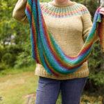 Rainbow Hitchhiker Shawl