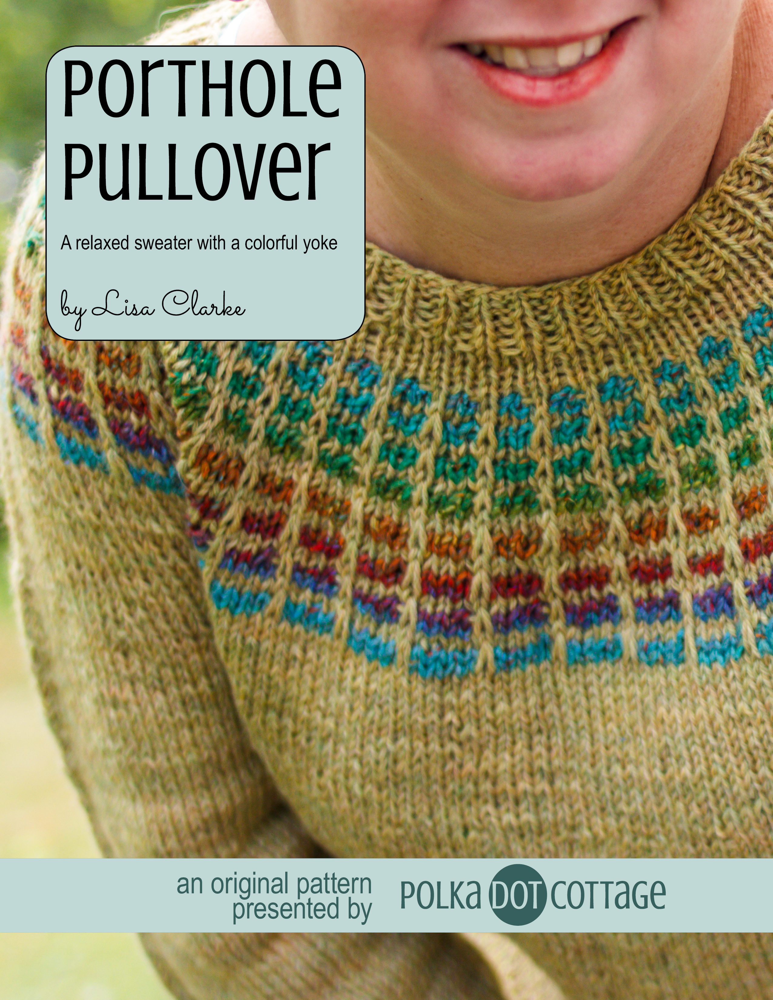 Porthole Pullover knitting pattern by Lisa Clarke