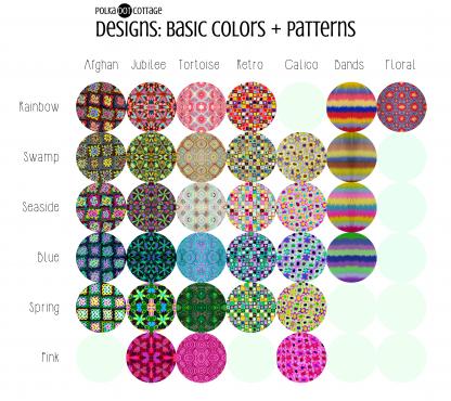 Polka Dot Cottage Designs: Basic Colors + Patterns