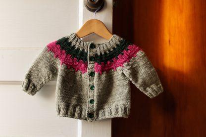 Cogwheel Baby Cardigan Knitting Pattern