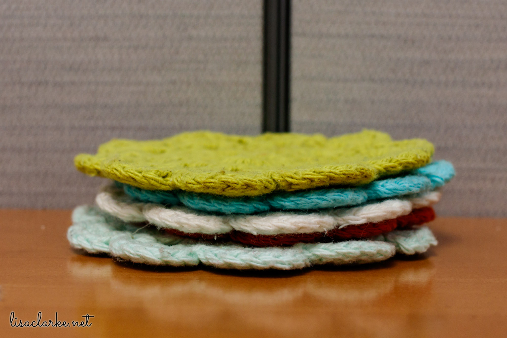Ways to Make Your Cubicle Less Awful: Vintage-style Crochet Coasters