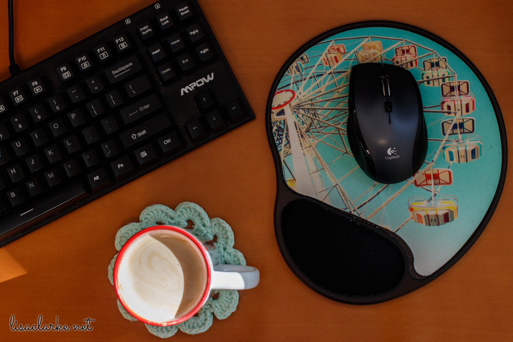 Ways to Make Your Cubicle Less Awful: Custom Mug and Mouse Pad from Zazzle