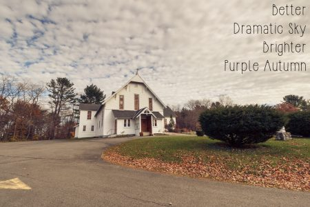 Photoshop Actions and Lightroom Presets: Cairo NY Church - Purple Autumn