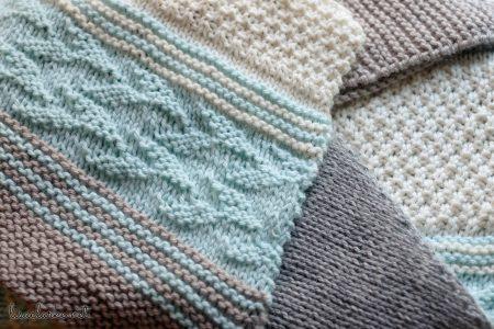 Taryn Shawl Knitting Pattern, texture closeup