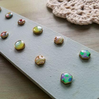 Polka Dot Cottage Stud Earrings