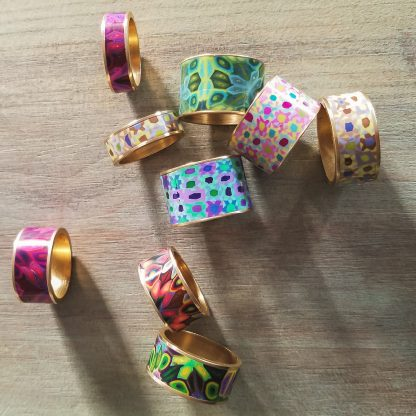 Polka Dot Cottage Channel Rings Scattered