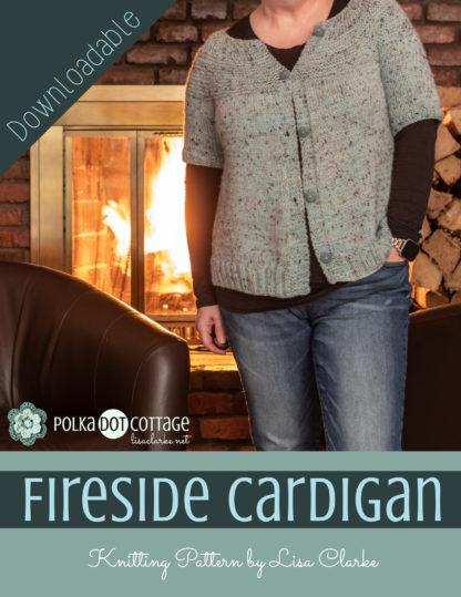 Fireside Cardigan Knitting Pattern by Lisa Clarke