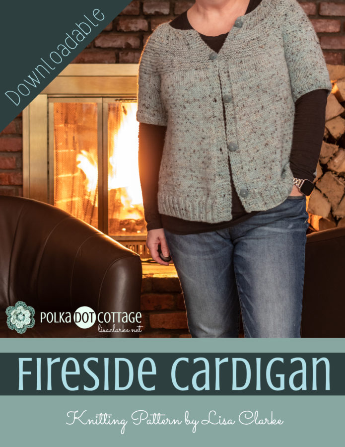Fireside Cardigan Knitting Pattern by Lisa Clarke