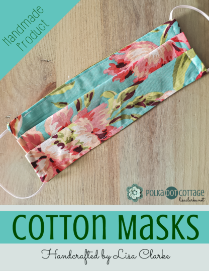 Handmade Cotton Fabric Face Masks