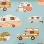 Vintage Camping - Blue Campers